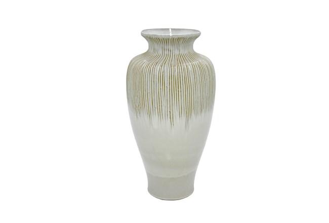 18 Inch White Ceramic Vase Living Spaces