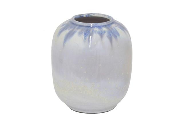 7 Inch White Ceramic Vase - 360