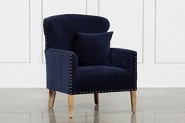 Studded Chair With Walnut Legs