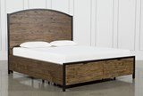Foundry Queen Panel Bed With Storage - Signature
