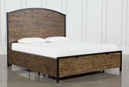 Foundry Eastern King Panel Bed With Storage