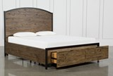 Foundry Eastern King Panel Bed With Storage - Right