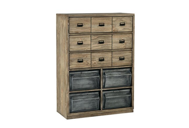 Magnolia Home Workshop Chest With Metal Bins By Joanna Gaines - 360