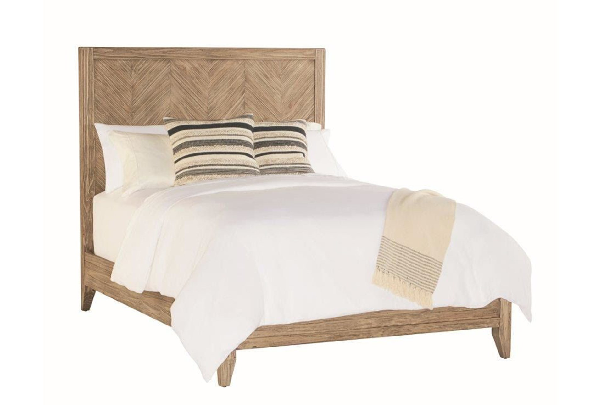 magnolia home herringbone queen panel bed by joanna gaines living