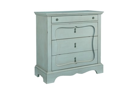 Magnolia Home Silhouette French Blue 4-Drawer Chest By Joanna Gaines - Main