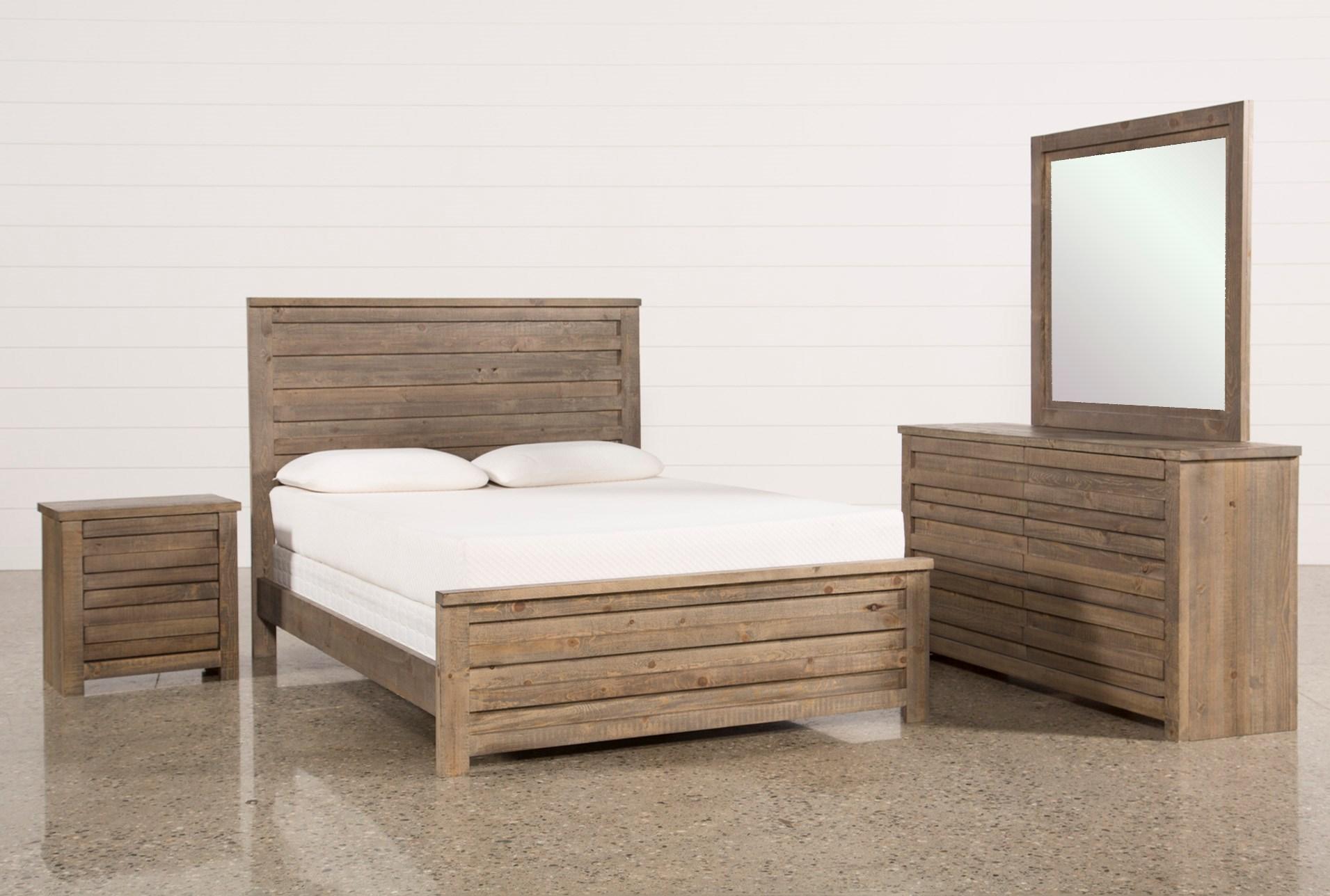 Sawyer Grey Queen 4 Piece Bedroom Set   Living Spaces
