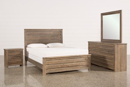 Sawyer Grey Queen 4 Piece Bedroom Set