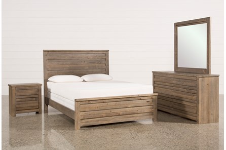 Sawyer Grey Queen 4 Piece Bedroom Set - Main
