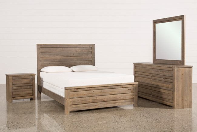 Sawyer Grey Queen 4 Piece Bedroom Set - 360
