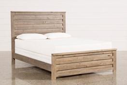Sawyer Grey Queen Panel Bed
