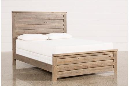 Sawyer Grey Queen Panel Bed - Main