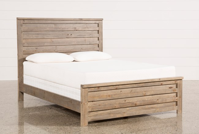 Sawyer Grey Queen Panel Bed - 360