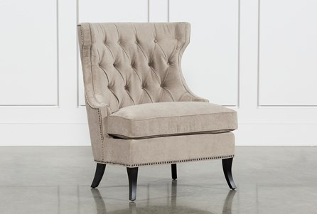 Platinum Tufted Lounge Chair