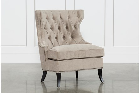 Platinum Tufted Lounge Chair - Main