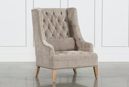 Platinum Tufted Chair