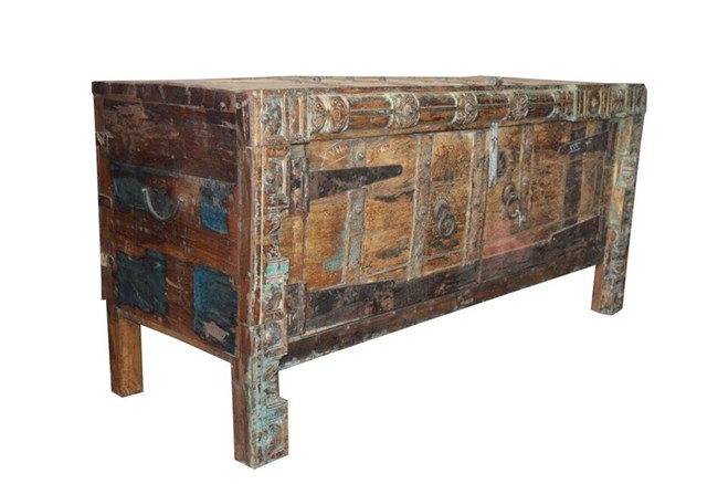 Mixed Reclaimed Wood Cabinet - 360