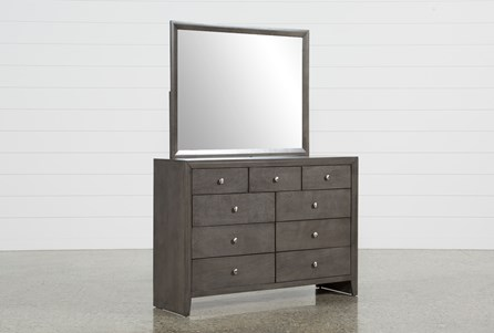 Chad Grey Dresser/Mirror