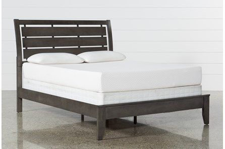 Chad Grey Full Panel Bed - Main