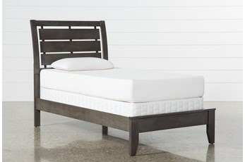 Chad Grey Twin Panel Bed