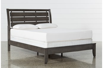 Chad Grey California King Panel Bed