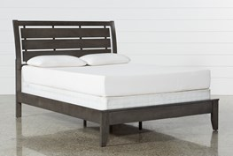 Chad Grey Eastern King Panel Bed