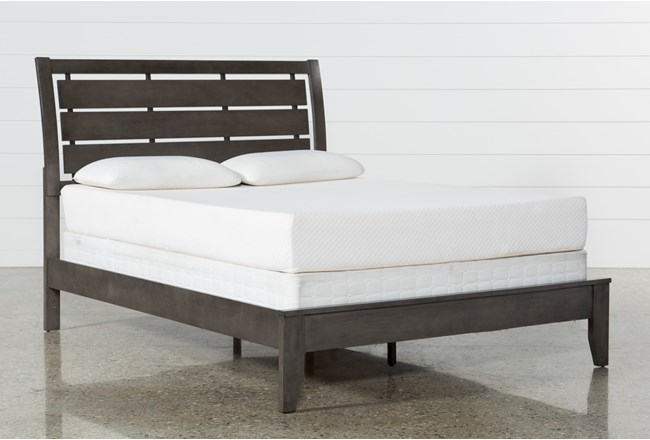 Chad Grey Eastern King Panel Bed - 360
