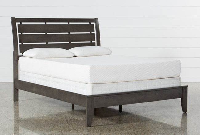 Chad Grey Queen Panel Bed - 360