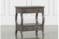 "Candice II 2-Drawer 29"" Nightstand With USB and Power Outlets"