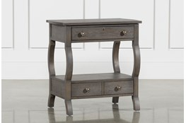 Candice II 2-Drawer Nightstand With USB and Power Outlets