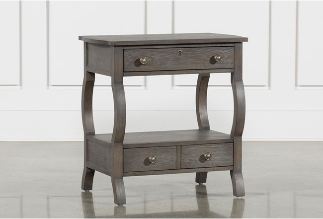 Candice II 2-Drawer Nightstand With USB and Power Outlets - 360