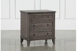 "Candice II 3-Drawer 29"" Nightstand With USB and Power Outlets"