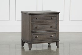 """Candice II 3-Drawer 29"""" Nightstand With USB and Power Outlets"""