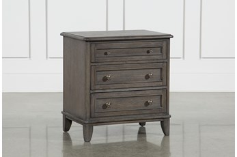 Candice II 3-Drawer Nightstand With USB and Power Outlets
