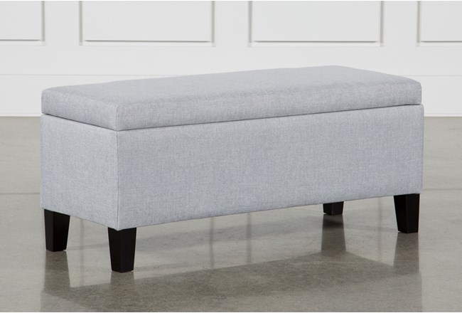 Gray Storage Bench Simple Hudson Storage Bench Living Spaces