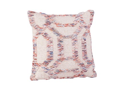 Accent Pillow-Pink & Blue Geometric 18X18