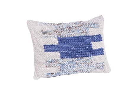 Accent Pillow-Blue Blocks 14X20