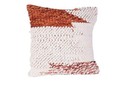 Accent Pillow-Rust Corner Block 18X18