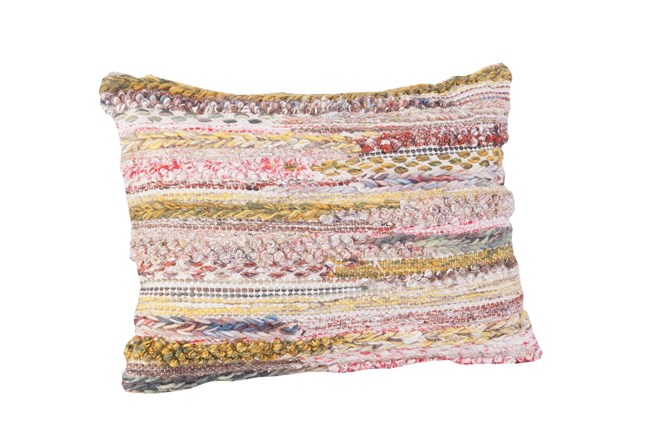 Accent Pillow-Multi Color Textures 14X20 - 360