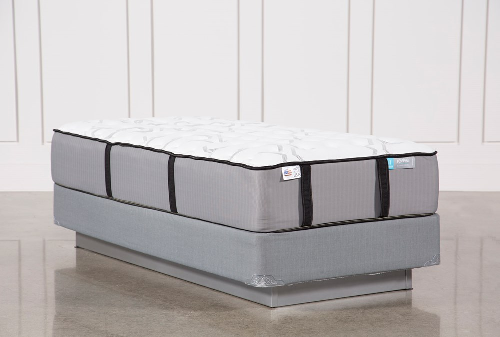 Kit-Revive Gel Springs Firm Twin Extra Long Mattress W/Foundation