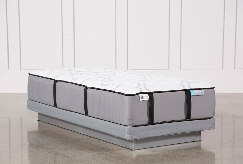 Gel Springs Firm Twin Extra Long Mattress With Low Profile Foundation