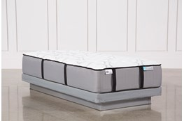 Kit-Revive Gel Springs Firm Twin Extra Long Mattress W/Low Profile Foundation