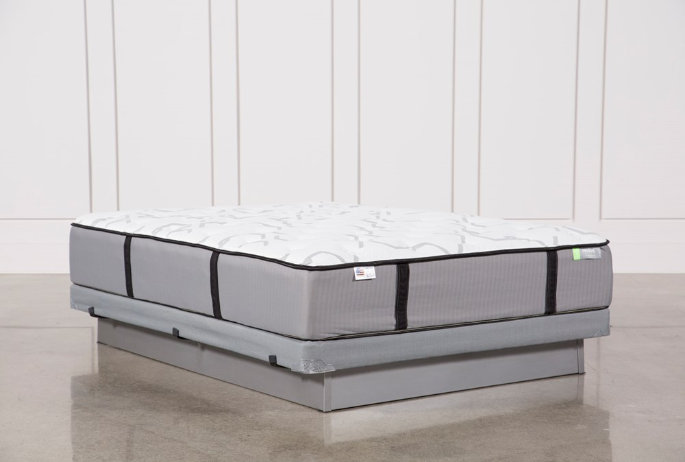 Gel Springs Firm Queen Mattress W/Low Profile Foundation