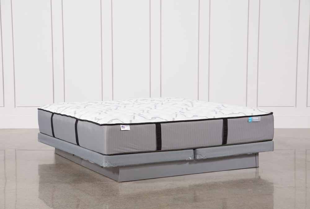 Kit-Revive Gel Springs Firm California King Mattress W/Low Profile Foundation