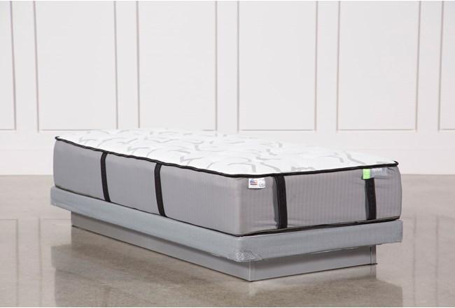 Gel Springs Medium Twin Extra Long Mattress W/Low Profile Foundation - 360