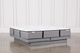 Gel Springs Medium Eastern King Mattress W/Low Profile Foundation