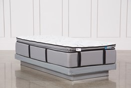 Gel Springs Plush Twin Extra Long Mattress W/Low Profile Foundation