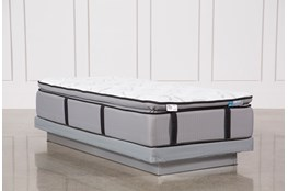 Kit-Revive Gel Springs Plush Twin Extra Long Mattress W/Low Profile Foundation