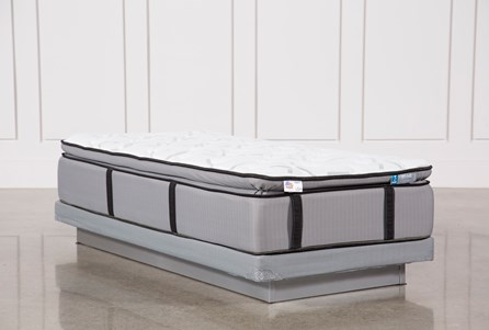 Gel Springs Plush Twin Extra Long Mattress W/Low Profile Foundation