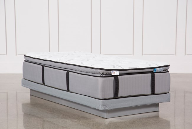 Revive Gel Springs Plush Twin Extra Long Mattress W/Low Profile Foundation - 360