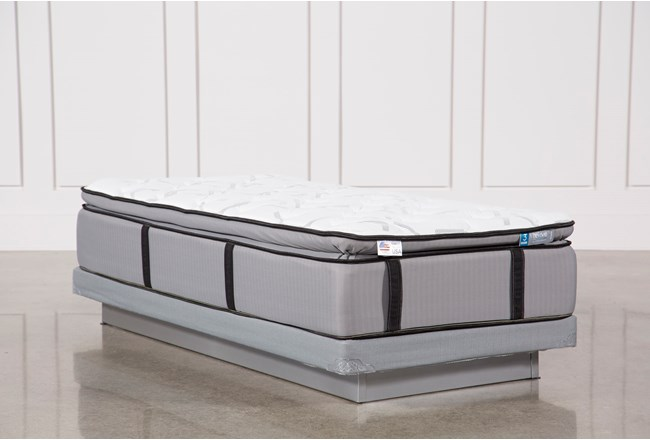 Kit-Revive Gel Springs Plush Twin Extra Long Mattress W/Low Profile Foundation - 360